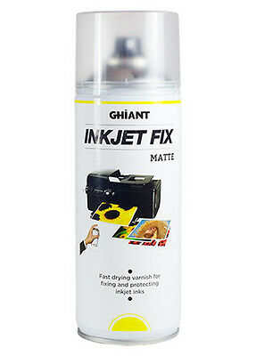Ghiant Ink Jet Fixative 400ml Aerosol Spray Varnish - Inkjet - Matt • 14.99£
