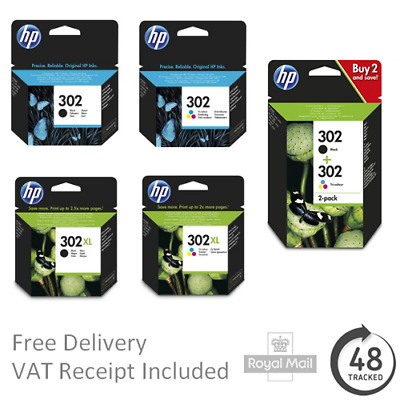 Genuine HP 302 / 302XL Black & Colour Ink Cartridges For HP Deskjet 3630  • 38.50£