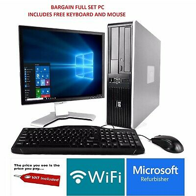 Full Dual Core Desktop Tower Pc & Tft Computer With Windows 10 & Wifi & 6gb • 90£