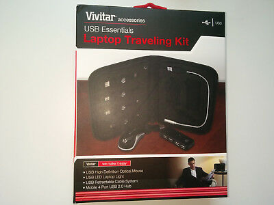 Vivitar Laptop Traveling Kit - USB Essential Case, NEW, SEALED. • 4£