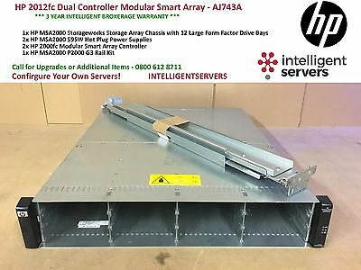 HP 2012fc Dual Controller Modular Smart Array - AJ743A • 1,195£