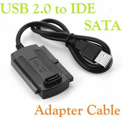 USB 2.0 To SATA/IDE Converter HDD Cable For 2.5''/3.5'' Hard Drive CD DVD RW Rom • 3.98£