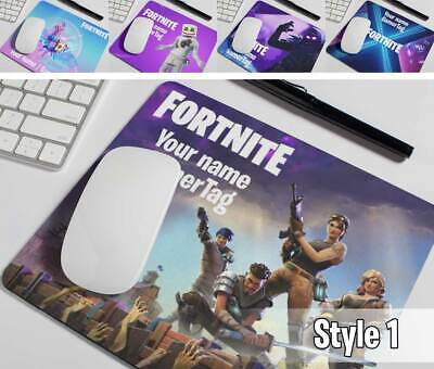 HD Fortnite Mouse Mat PERSONALISED Add Your Text, Name Or GamerTag - Gamer Gift • 5.95£
