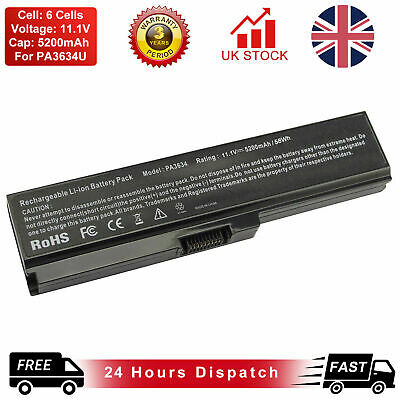 Battery For Toshiba Satellite PA3780U-1BRS C650 C655 C660 C670 L750 L770 A665  • 12.99£