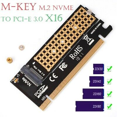 M.2 NVMe SSD NGFF TO PCIE 3.0 X16 X4 16X Adapter M Key Interface Card Full Speed • 3.98£