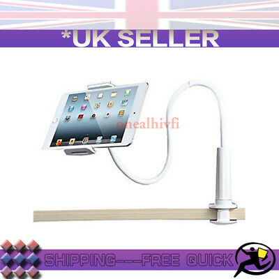 White 360° Bed Desk Stand Holder For IPhone IPad Air Mini Tablet Gooseneck Lazy • 8.57£