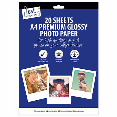 A4 20 Sheets Photo Paper  Glossy Inkjet Premium Quality High Gloss Pictures 5906 • 2.89£