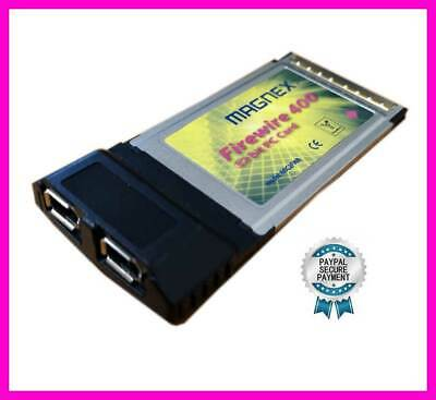 Magnex Pcmcia Card Firewire Ieee 1394 Card Bus PC 32 Bit 2 Ports For Laptop • 30.09£