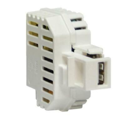 Fme Charger USB 2,1A Containing Recessed With Latching Keystone White • 20.15£