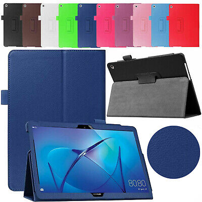 Leather Case For Huawei Mediapad T3 10 2017 Magnetic Stand Flip Book Smart Cover • 8.98£