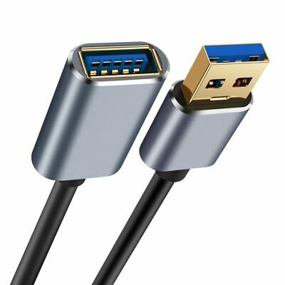 USB 3.0 Male To Female SuperSpeed Data Sync Fast Charging Extension Cable NEW UK • 5.39£