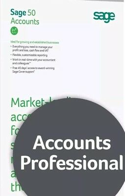 Sage 50 Professional V25 Accounts Software | 10 Companies | Online Download Only • 29.99£