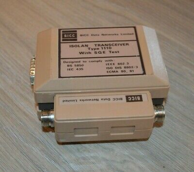 BICC ISOLAN Transceiver Type 1110 ICL 10019865 #32 • 39£