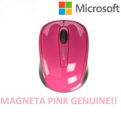 Microsoft (GMF-00276) Mouse 3500 Wireless Optical Laptop Pc Gloss Magneta Pink • 9.99£