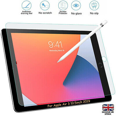 Genuine TEMPERED GLASS Screen Protector Cover For New Apple IPad Air 3 10.5 2019 • 3.49£