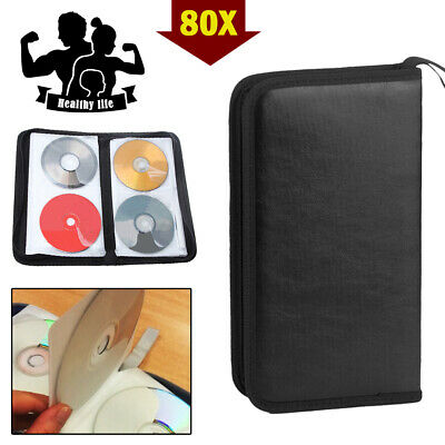 80x Car Storage Holder Case Wallet Organizer Portable Disc CD VCD DVD Carry Bag • 6.99£