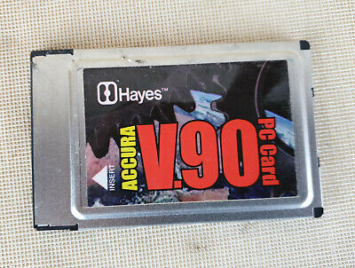 Hayes Accura V.90 PC Card, Model 15615, 56K  • 4.99£