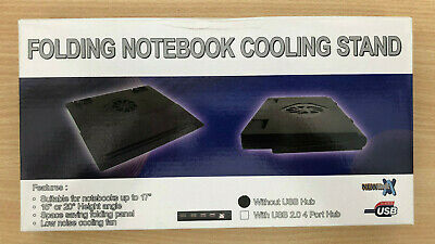 Folding Laptop Notebook Cooling Stand With Fan - Black - NEW • 13.99£