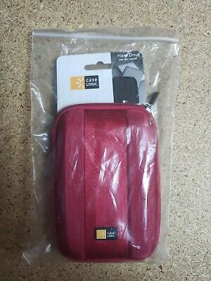 Case Logic Portable External 2.5  Hard Drive Padded Case Red - NEW • 6.49£