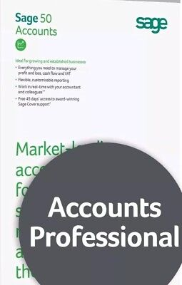 Sage 50 Professional V25 Accounts Software | 10 Companies | Online Download • 39.99£