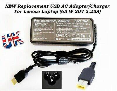 New Lenovo Yoga 500 Laptop Charger AC Adapter Power Supply (65W, 20V, 3.25A)- UK • 10.99£