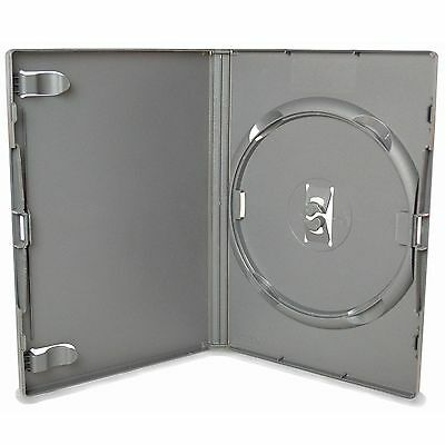 100 X Genuine Silver Amaray Single DVD Cases Empty Replacement NEW Cover • 69.99£