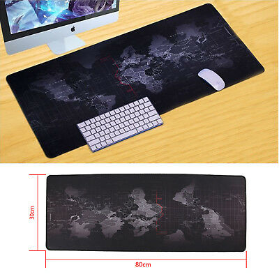 Non-slip World Map Design Wide Large Computer Mouse Pad Desk Mat 80*30 Earth Map • 5.69£