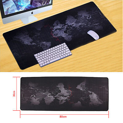 Useful  World Map Large Cloth Extended Rubber Gaming Mouse Desk Pad Mat Office • 8.09£