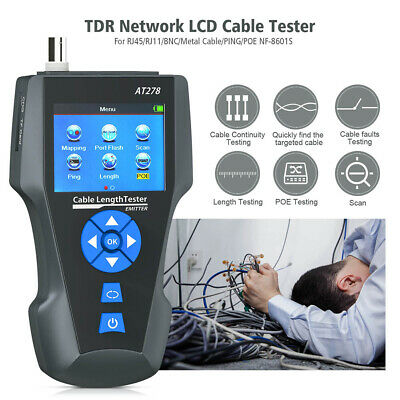 KOLSOL AT278 TDR Cable Length Tester NF-8601S Network Wire Tracker RJ45 RJ11 BNC • 125.43£