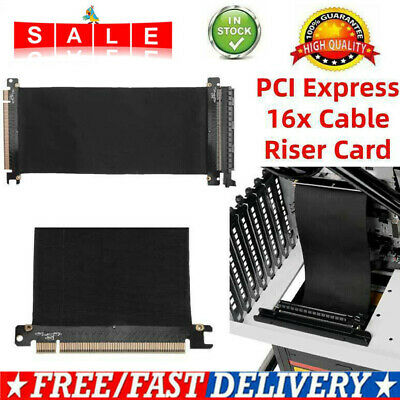PCI Express X 16 Extender Card Flexible Cable Extension Port Adapter Riser Card • 9.79£