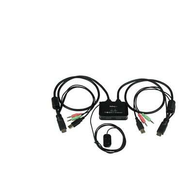 StarTech.com 2 Port USB HDMI Cable KVM Switch With Audio And Remote Switch –. • 100.53£