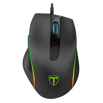 T-Dagger Full RGB Colour LED Wired Optical USB Gaming PC Mouse Computer Laptop • 12.99£
