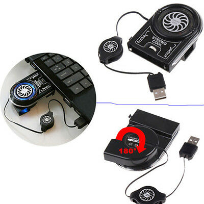 Mini Vacuum Led Usb Cooler Air Extracting Cooling Pad Fan For Notebook Laptop HV • 8.36£