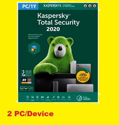 Kaspersky Total Security  Antivirus  Full Protection 2 Device 2020 • 7.99£