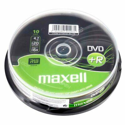 10x Maxell DVD+R 16x 4.7gb 120min Blank Recordable DVD Discs Loose Packed  • 3.99£