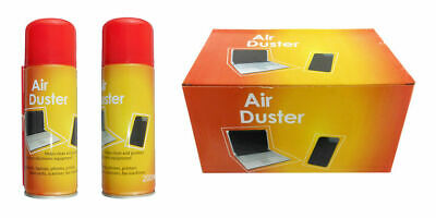 2 X 200ml Compressed Air Duster Cleaner Can Canned Laptop Keyboard Mouse Phones • 7.50£