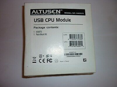 Altusen KA9570 USB CPU Module Adapter Cable And Rack Mount Kit  New In Box • 5.95£