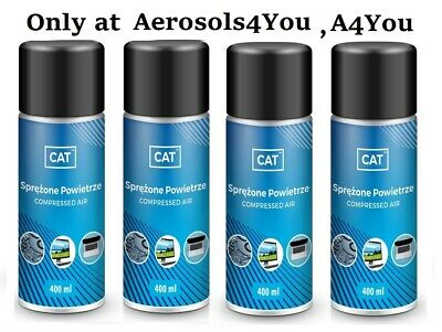 4 X Compressed Air Duster Gas Spray Cleaner Keyboard Mouse Printer Can 400ml • 14.49£