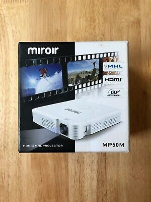 Miroir MP50m Mini LED Projector HDMI MHL With Case & Cables  • 90£