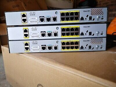 3 * CISCO 891-K9 891 Ethernet Security Router, Perfect For Training Lab, Offers • 40£