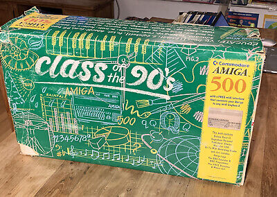 Commodore Amiga 500 - Class Of The 90's Pack, Boxed With Bits And Cables • 120£