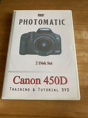 Photomatic 2 Disk Canon 450D Training & Tutorial DVD • 2£