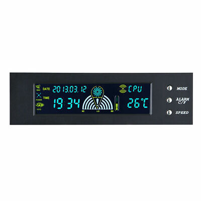 5.25  5V-12V Front LCD Panel PC CPU Fan Speed Controller Temperature • 5.95£