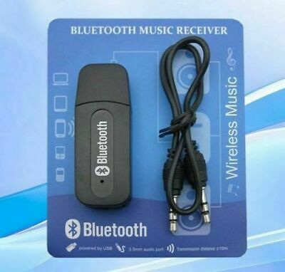 3.5mm To USB Bluetooth Receiver AUX Audio Stereo Music Adapter System Car Laptop • 2.79£