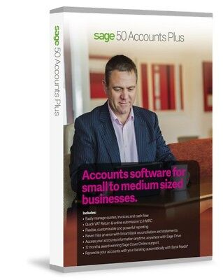 Sage 50 ACCOUNTS PLUS V25 Software | Perpetual Version | Online Download • 16.99£