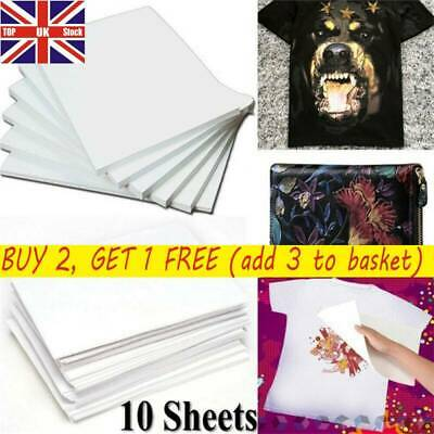 10*A4 Heat Transfer Iron-On Paper For Light & Dark Fabric T-shirt Cloth Painting • 4.98£