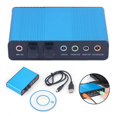 External USB Sound Card Channel 5.1 7.1 Optical Audio Card Adapter For PC Laptop • 11.55£