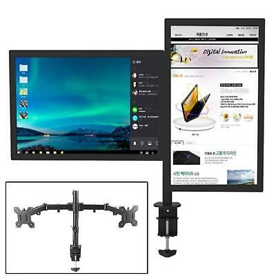 TV Monitor Double Arm Bracket Adjustable 13-27 Inches Computer Monitor Stand UK • 16.99£