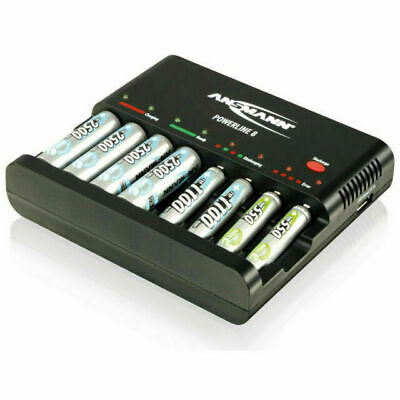 Ansmann  Powerline 8  Battery Charger With USB Charging Socket • 44.16£