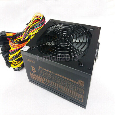 1600W Modular Power Supply For 6 GPU Eth Rig Ethereum Coin Mining Miner  90 Gold • 99£